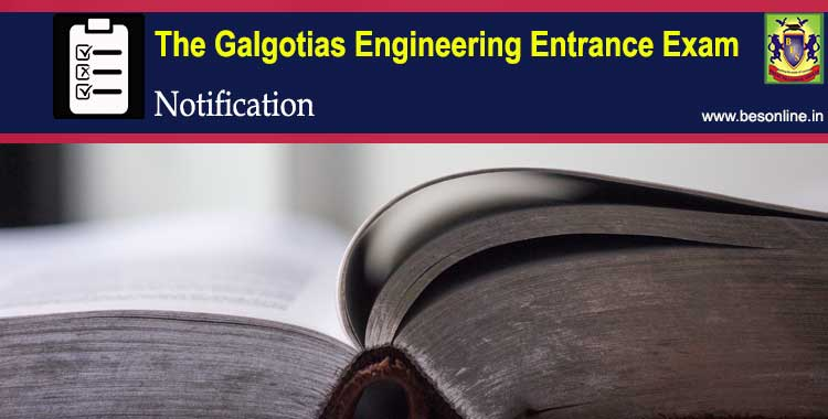 The Galgotias Engineering Entrance Exam 2018 Notification