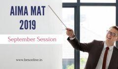AIMA MAT 2019 September Notification Released, Eligibility, Registration
