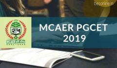 MCAER PGCET Notification 2019 - Exam Date, Eligibility, Application Fee
