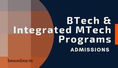 SASTRA University BTech & Integrated MTech Programs Admission 2019