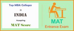 List of MBA Colleges Accepting MAT Score in India