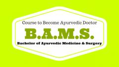 BAMS Degree for Under Graduates