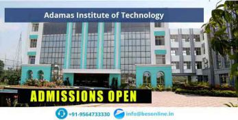 Adamas Institute of Technology Admissions
