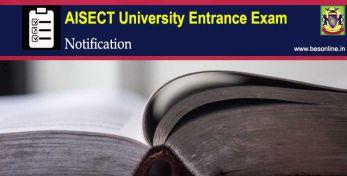AISECT University Entrance Exam 2020 Notification