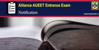 Alliance AUEET 2020 Entrance Exam Notification
