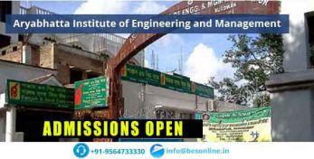 Aryabhatta Institute of Engineering and Management Admissions