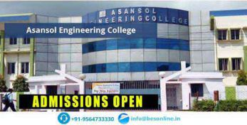 Asansol Engineering College Courses