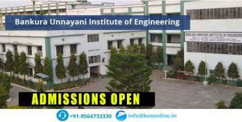 Bankura Unnayani Institute of Engineering Admissions