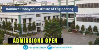 Bankura Unnayani Institute of Engineering Courses
