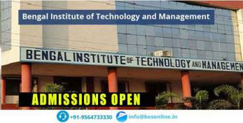 Bengal Institute of Technology and Management Admissions