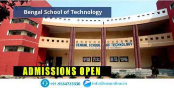 Bengal School of Technology Admissions