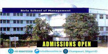 Birla School of Management Admissions
