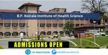 B.P. Koirala Institute of Health Science Admissions