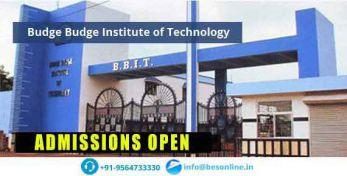 Budge Budge Institute of Technology Scholarship
