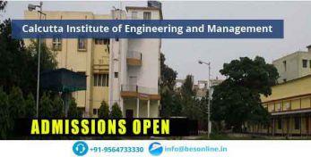 Calcutta Institute of Engineering and Management Courses