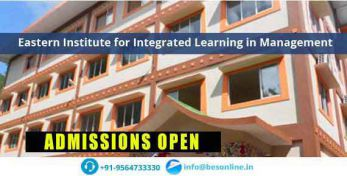 Eastern Institute for Integrated Learning in Management Admission