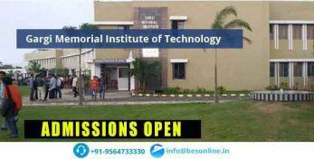 Gargi Memorial Institute of Technology Admissions