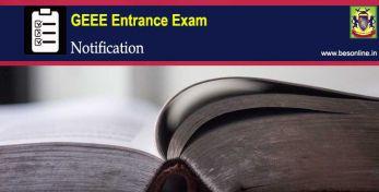 GEEE 2020 Entrance Exam Notification