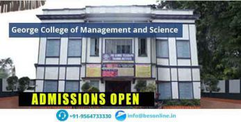 George College of Management and Science Fees Structure