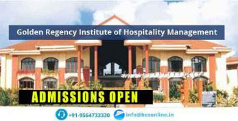 Golden Regency Institute of Hospitality Management Admissions