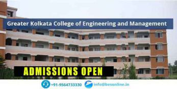 Greater Kolkata College of Engineering and Management Admissions