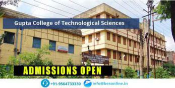 Gupta College of Technological Sciences Admissions