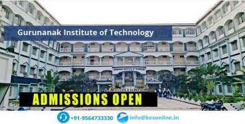 Gurunanak Institute of Technology Admissions