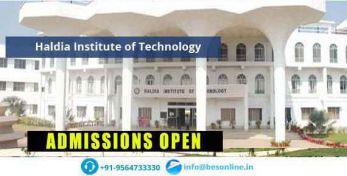 Haldia Institute of Technology Admissions