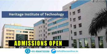 Heritage Institute of Technology Admissions