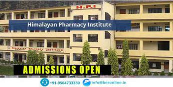 Himalayan Pharmacy Institute Fees Structure