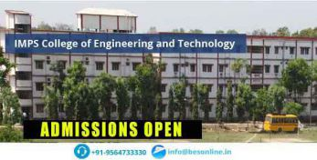 IMPS College of Engineering and Technology Admissions