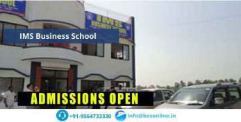 IMS Business School Fees Structure