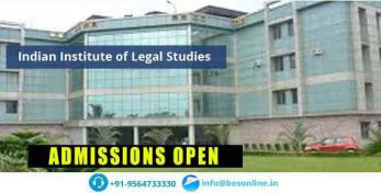 Indian Institute of Legal Studies Admissions