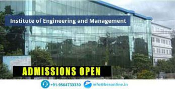 Institute of Engineering and Management Admissions