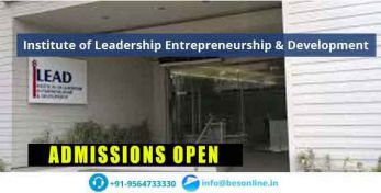 Institute of Leadership Entrepreneurship & Development Admissions