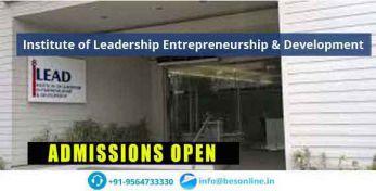 Institute of Leadership Entrepreneurship & Development Admissions