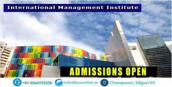 International Management Institute Courses