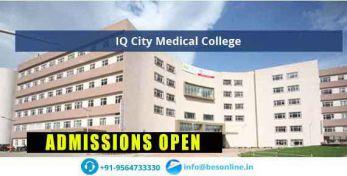 IQ City Medical College Admissions