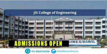 JIS College of Engineering Admissions