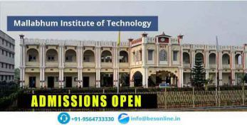 Mallabhum Institute of Technology Admissions