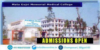 Mata Gujri Memorial Medical College Admission