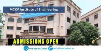 MCKV Institute of Engineering Admissions