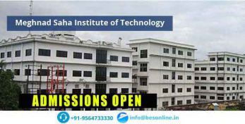 Meghnad Saha Institute of Technology Admissions