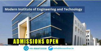 Modern Institute of Engineering and Technology Admissions