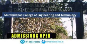 Murshidabad College of Engineering and Technology Admissions