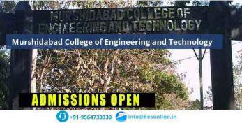 Murshidabad College of Engineering and Technology Scholarship