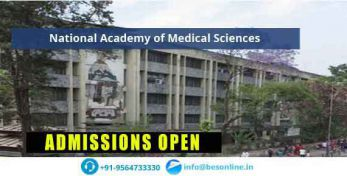 National Academy of Medical Sciences Fees Structure