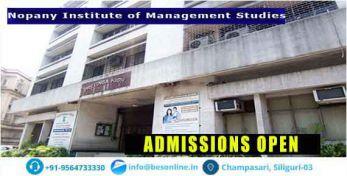 Nopany Institute of Management Studies Admissions