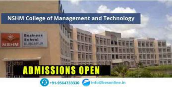NSHM College of Management and Technology Admissions
