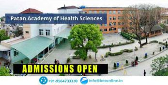 Patan Academy of Health Sciences Admissions